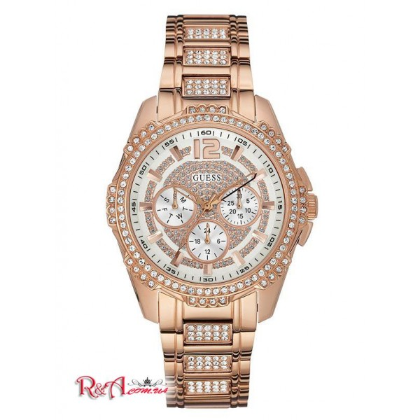 GUESS Factory Часы Rose Gold-Tone Multifunction Crystal для Женщин 5127-01 No Color