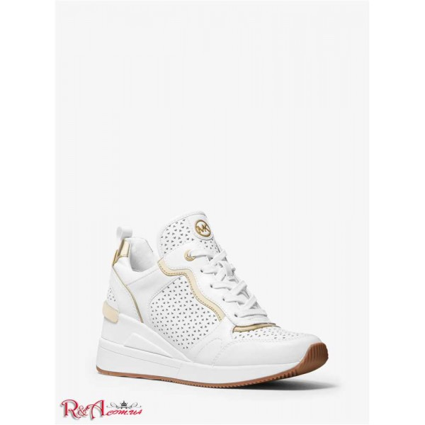 MICHAEL KORS Crista Perforated Trainer for Women 56660-05 Optic White